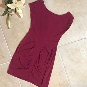 Vans Mini Dress Open Back Magenta Purple L #133